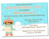 PRINTABLE Winter Birthday Boy Party Invitation
