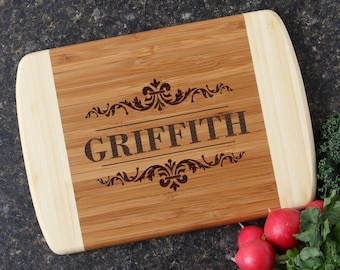 Personalized Cutting Board, Custom Engraved Cutting Board, Bamboo Cutting Boards, Personalized Wedding Gift, Housewarming Gift-10 x 7 D16