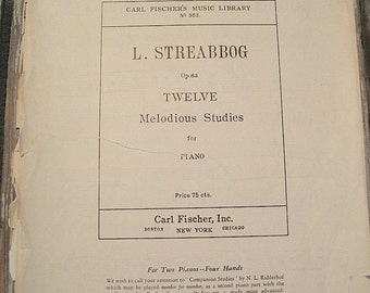 1904 L. Streabbog Piano Sheet Music Booklet
