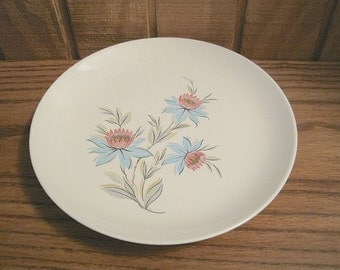 """Two Vintage Steubenville Pottery Co Dinner Plates """"Fairlane"""" Pattern"""