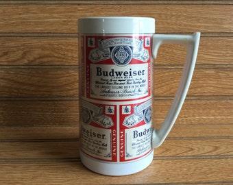 Thermo Serv Budweiser Beer Mug Cup Vintage
