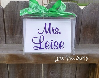 Personalized Recipe Box - BLANK CARDS included