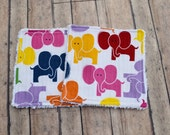 Chenille Wash Cloth - Pink Giraffe Baby Washcloth - Set of Two - Free Shipping