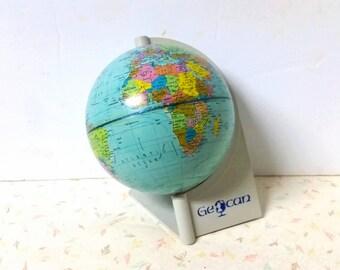 Vintage Danish Mid Century Modern Tin Globe Scan Globe 1972