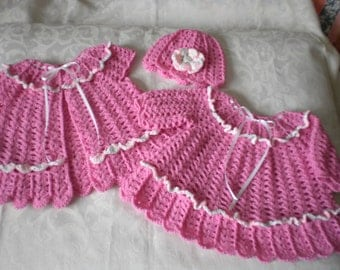 Precious Pink 3 Piece Dress Set for 12 months