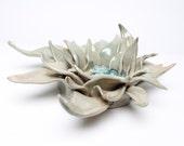 Ceramic Lotus Sculpture / Votive