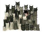 Fake It 'Til You Make It. Cat Illustration - Digital Print