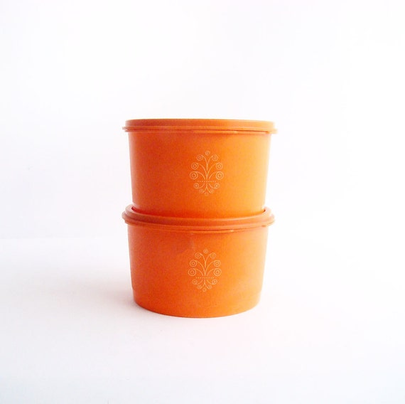 tupperware kitchen storage containers orange tupperware containers kitchen storage by abouttheplace 6393