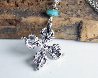 50% OFF Tibetan Vajra Pendant, Necklace, Drop Necklace Cross Necklace, Etsy, Etsy Jewelry, Silver Necklace