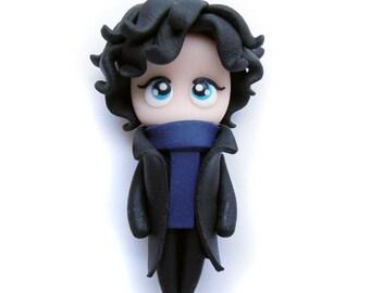 SALE - Sherlock - Miniature Sculpture - Charm Figurine