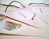 Beatrix Potter Peter Rabbit Banner - Pink Edition