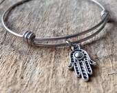 Hamsa Bracelet, Hamsa Bangle, Hand of God, Hamesh, Yoga Bracelet, Bohemian Bracelet, Boho Bracelet, Bohemian Jewelry, Black Friday