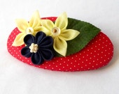 Fabric Flowers Barrette in Primary Colors Tsumami Kanzashi Undiscovered