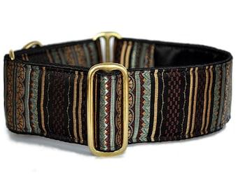 "Martingale Collar: Brocade Stripes (1.5"" & 2""), Dog Collar, Greyhound Collar, Custom Dog Collars"