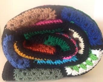 Lucky 4 Leaf Clover Charm - Blanket Blanket - Handcrafted SewBelles Original Afghan Granny Square