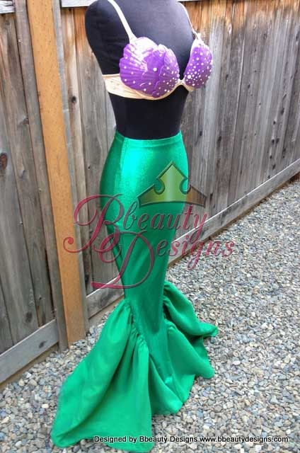 Ariel Budget Little Mermaid Costume Tail And Shells Custom