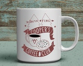 coopers coffee club mug twin peaks coffee cup agent cooper fan cup