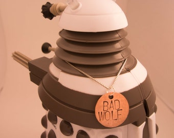 BAD WOLF Doctor Who Pendant