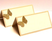 Set of 10 Butterfly Place Cards