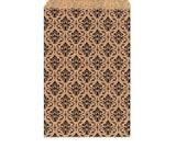 100 Pack Damask Print Sack (6 x 9 in)