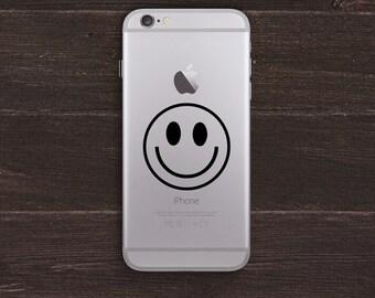 Smiley Face Vinyl iPhone Decal BAS-0204