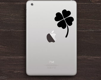 Lucky Four Leaf Clover Vinyl iPad Decal BAS-0236
