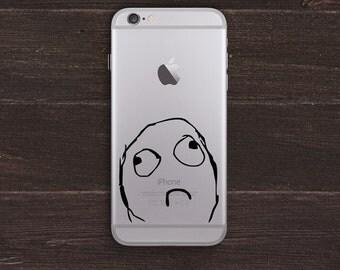 Sad Meme Vinyl iPhone Decal BAS-0257