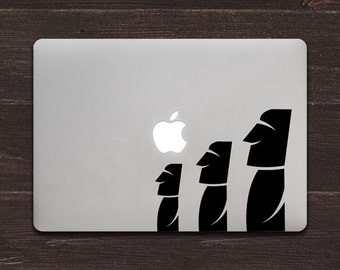 Moai Easter Island Statues Vinyl MacBook Decal BAS-0270