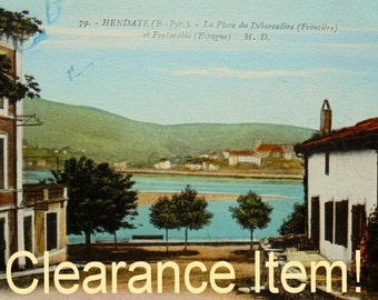 Vintage French Postcard - Hendaye, Basque Country, France (Clearance Item)