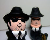 The Blues Brothers Figurine or Cake Topper Set - Handmade