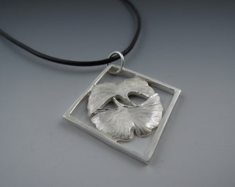 Sterling Silver Ginko Leaf Pendant