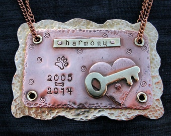 Custom Pet Memorial Urn Charms and Tags