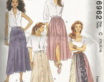 McCall's 6962 Misses Skirt Pattern SZ 10-14