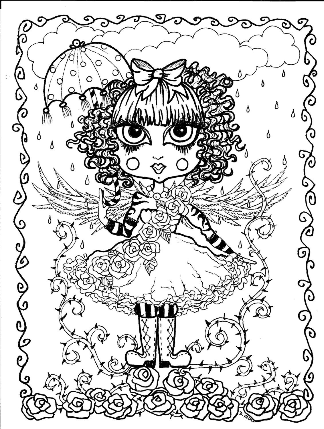 gothic art coloring pages - photo#32
