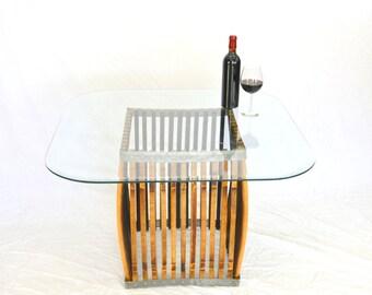 "CRAFTSMAN - ""Tarada"" Wine Barrel Coffee Table  - Convex - 100% recycled"