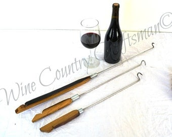 "BBQ - ""Kurva"" -  BBQ hooks made from wine barrels and staves - 100% Natural and Recycled"