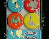 Zombie Dinosaur Magnets- Zombie Dinosaur Magnet Set