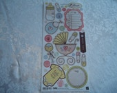 "Baby Cardstock Stickers by Basic Grey  5.5"" x 12"" Sheet"