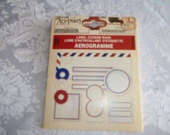 Aerogramme Label Sticker Book by 7 Gypsies