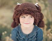 DISCOUNT Kids Patch Crochet Hat w/ Loops and Ponytails!
