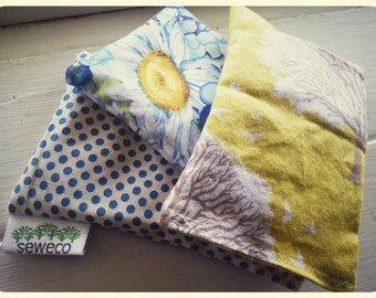 Organic Lavendar Reusable Dryer Sheets  Lavendar Sachets  ~ Blues and Trees