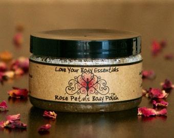 Rose sugar scrub,  rose exfoliating polish,  rose body polish,  bumpy skin, keratosis pilaris