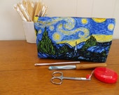Starry Night Notions Pouch -Notions, Makeup, Pencil, Toiletries Pouch-