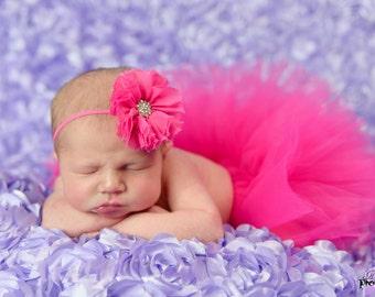 Infant Pink Tutu  - SEWN tutu - Infant tutu -  Hot Pink tutu - Baby Tutu - Infant tutu - Photography Tutu - Photo Prop tutu - fuschia Tutu