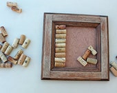 DIY Wine Cork Crafts - Bulletin Board or Large Trivet Kit - reclaimed wood frame can be used for anything- distressed wood grain