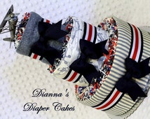 Baby Diaper Cake Vintage Airplanes Centerpiece Gift