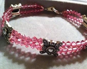 Swarovski in Pink (bracelet)