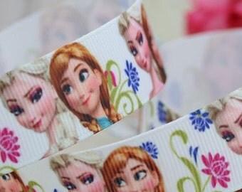 CLEARANCE SALE*FREE Shipping*4 yards x Grosgarin Disney Frozen Ribbon Elsa Anna Ribbon Sewing Scrapbooking Hair Bow