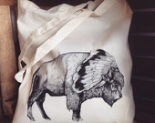White Bison // Screen Printed Tote Bag