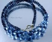 Pools of Light - London Blue Topaz, Solid 14k Gold Necklace